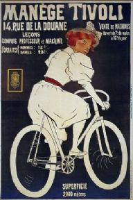 Vintage French cycling poster - Cycling lessons